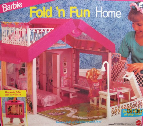 Barbie Fold N Fun Home Playset House W Street Light