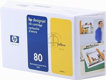 HP - Hewlett Packard DesignJet 1050 C (80 / C 4848 A) - original - Ink cartridge yellow - 4.400 Pages - 350ml