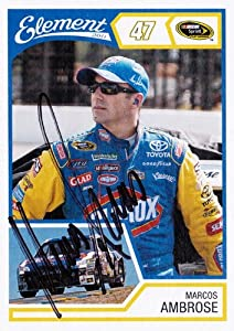 Buy AUTOGRAPHED Marcos Ambrose 2011 Wheels Element #47 CLOROX RACING (Sprint Cup Series) NASCAR Trading Card w  COA by Trackside Autographs