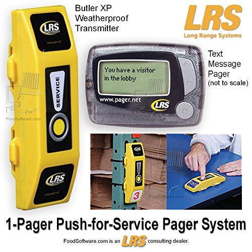 1 Pager Push For Service Pager System Kit By Lrs Long