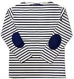 SAINT JAMES セントジェームス バスクシャツ ウエッソン エルボーパッチ メンズ レディース 2生成×マリン×マリン|T4