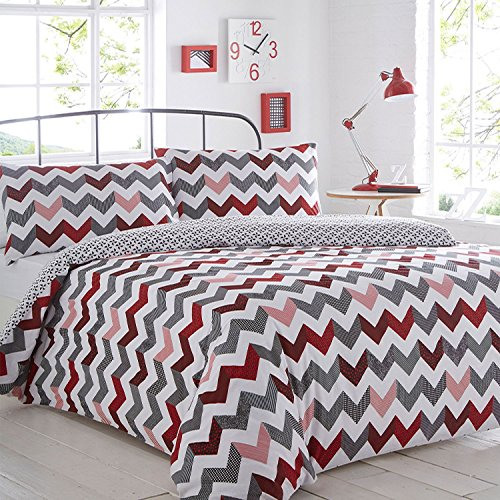 pieridae-chevron-red-duvet-cover-pillowcase-set-bedding-quilt-case-single-double-king-daybed-bedroom