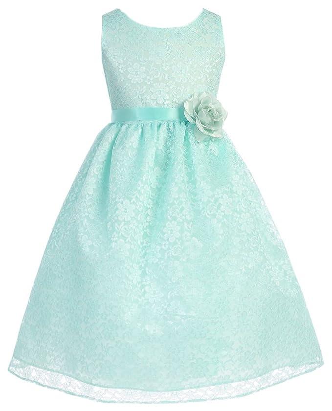 OLIVIA KOO Lovely Floral Lace Flower Girl Dress