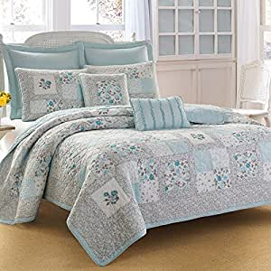 Amazon.com: Full/Queen Quilt Set (Laura Ashley Everly): Home & Kitchen
