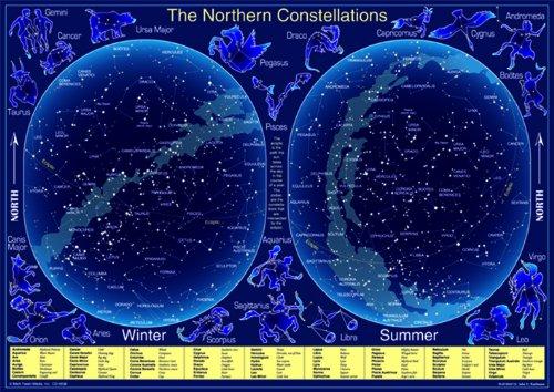 Carson Dellosa Mark Twain The Northern Constellations Chart (5938) (Constellation Chart compare prices)