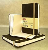 Derwent journal Noir petite taille avec couverture en imitation daim couverture de livre...