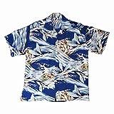 (サンサーフ) SUN SURF ハワイアンシャツ「MALOLO」 Mサイズ NAVY(ネイビー)