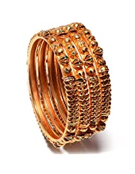 Bangles Gold Look High Quality One Gram Gold Plated Handmade Real Bangles - B00Q1FPU6M