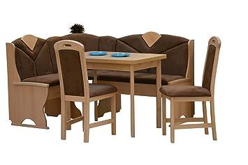 Eckbankgruppe Eckbank Esszimmer Essgruppe Stuhle Tisch Auszug Buche teilmassiv