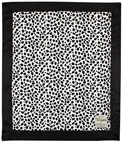 "My Blankee Dalmatian Minky Baby Blanket, 14"" X 17"", Black/White"
