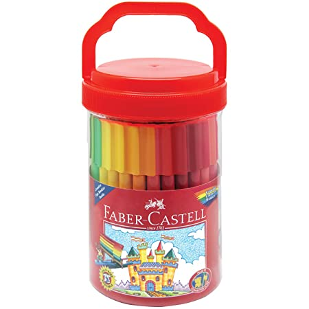 Amazon.com: Faber Castell Connector Pen Bucket (50 Count): Toys & Games