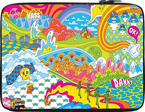 Snoogg Colourful Pattern 2496 12 To 12.6 Inch Laptop Netbook Notebook Slipcase Sleeve