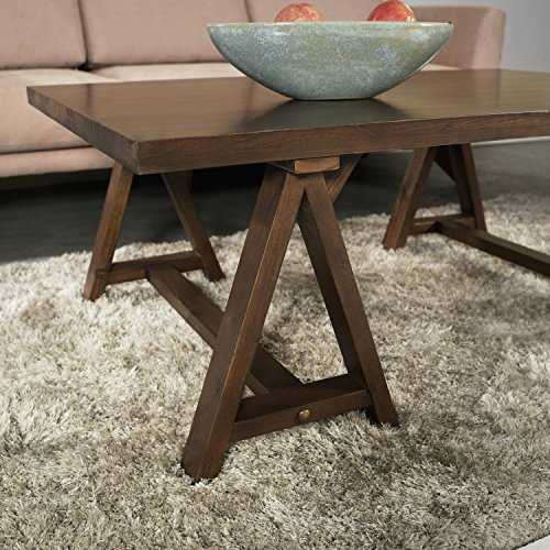 Simpli Home Sawhorse Coffee Table Medium Saddle Brown Hardware Tools Horses