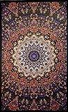 Sunshine Joy Glow In The Dark India Star Mandala Tapestry