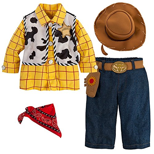 Disney Store Deluxe Toy Story Woody Costume for Baby Boys Toddlers 6 - 12 Months