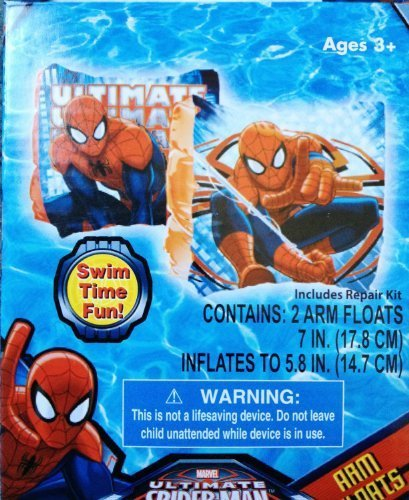Marvel Ultimate Spiderman Set of 2 Swimming Pool Arm Floats - 1