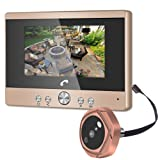SONEW Doorbell System,Video Door Phone,4.3 Inch Clear LCD Monitor,32G Wireless Voice Intercom Door Bells with IR Night Vision PIR Motion Detection Two-Way Voice Intercom(US Plug) (Tamaño: US Plug)