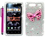 The Friendly Swede (TM) Bling Rhinestone Diamond Hard Case Cover for Motorola Droid Razr 4G XT910 / XT912 - 4.5