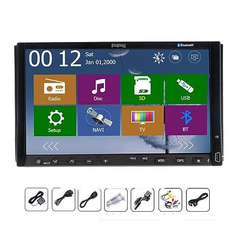 "Pupug 7 ""pouces Double Din 2 Dash stšŠršŠo Navigation GPS Autoradio DVD de voiture USB Lecteur Sd Auto Radio MP3 Bluetooth MP4 všŠhicule PC Radio + Navigation SD Carte"