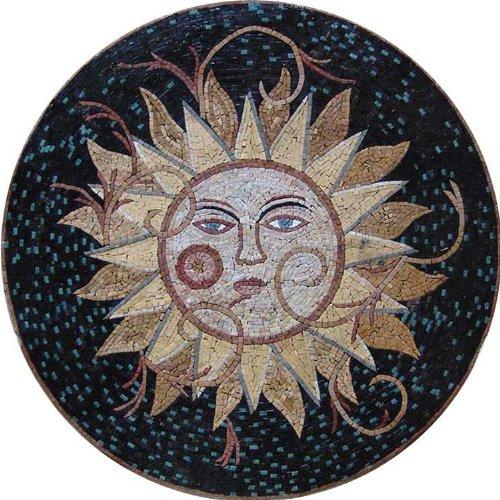 Marble Mosaic Stone Suntile Wall Medallion Floor, 72