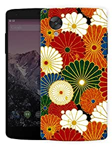 "Humor Gang Colorful Flower Pattern Printed Designer Mobile Back Cover For ""Lg Google Nexus 5"" (3D, Matte, Premium Quality Snap On Case)"