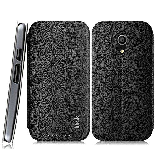 Heartly Imak squirrel pattern Premium Luxury PU Leather Flip Stand Hard Back Case Cover For Motorola Moto G2 G G+1 2nd Generation - Best Black