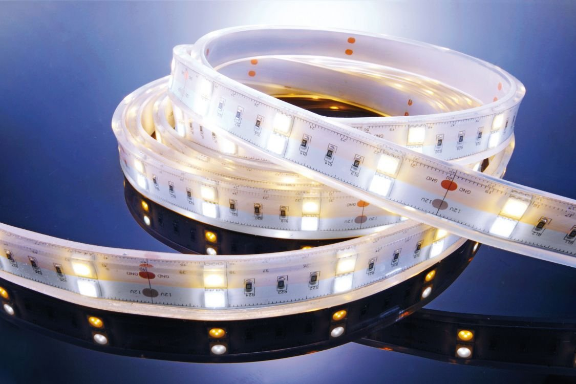 KapegoLED Flexibler LED Stripe, 5050, SMD, 12 V DC, 43,20, warmweiß / kaltweiß W 621362