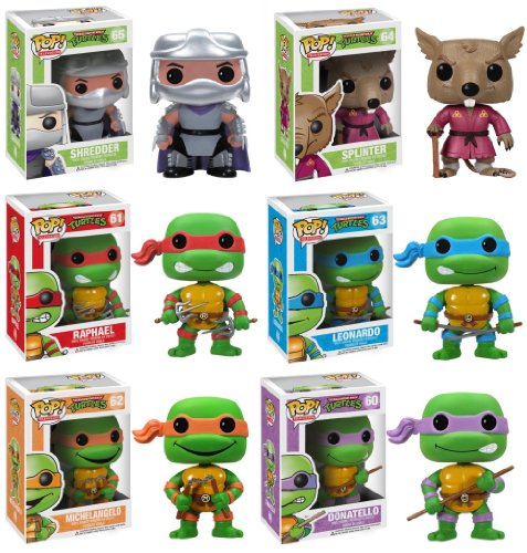 Teenage Mutant Ninja Turtle Pop Tv Vinyl Figure Set of 6