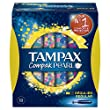 Tampax Compak Pearl R�gulier Tampons avec Applicateur X 18 - Lot de 3