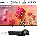 Samsung QN75Q9FN 75 inch Smart 4K Ultra HD QLED TV (2018) with 1 Xbox One X Bundle (Tamaño: 75 inches)