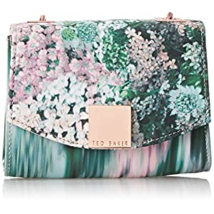 Ted Baker Glitch Floral SQR Clasp Clutch,Light Pink,One Size