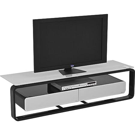 TV de rack colorco ncept Color (estructura): Negro Brillante, color (Cristal): platino gris