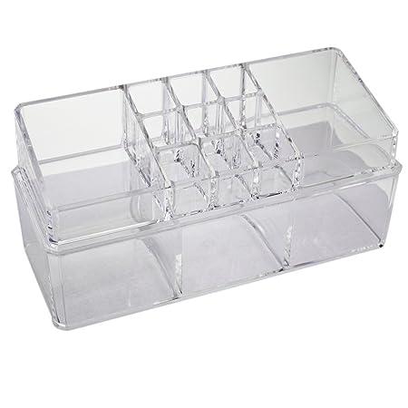 KurtzyTM présentoir à maquillage en plastique transparent bijoux table rangement