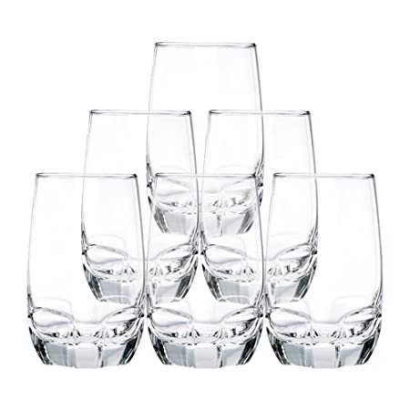Ocean Charisma Hi Ball Glass Set, Set of 6, 415ml, Transparent at amazon