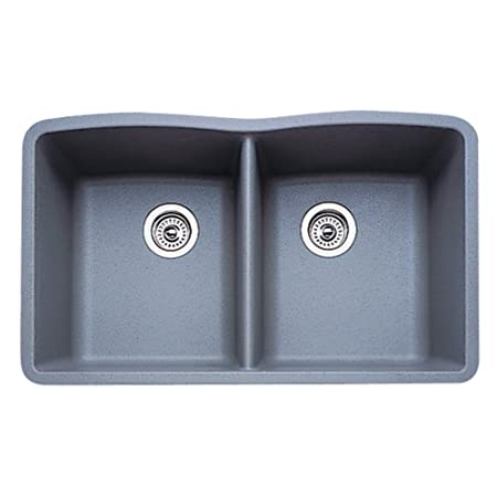 17 in. Diamond Undermount Double Bowl Kitchen Sink