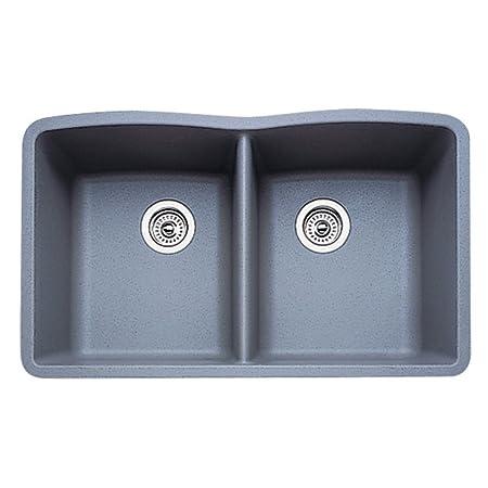 17 in. Diamond Undermount Double Bowl Kitchen Sink