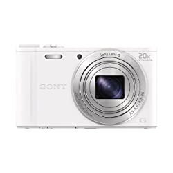 Sony Cyber Shot DSC-WX350W 18.2MP Compact Digital Camera with 20x Optical Zoom- White