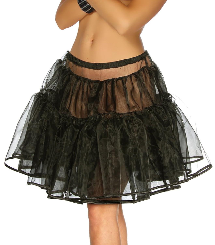 jowiha® Petticoat Rock ausladend mit elastischem Gummizug Einheitsgröße XS-M