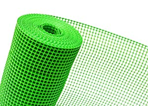 HaGa-Welt.de K-500/15 - Rete in plastica per recinzione, maglie 15 mm, 0,5 m, colore: Verde ...
