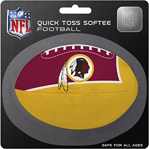 NFL Washington Redskins Kids Quick Toss Softee Football, Red, Small (Rawlings Footballs compare prices)