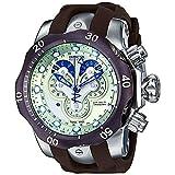 Invicta Men's 14461 Venom Analog Display Swiss Quartz Brown Watch (Color: gold)