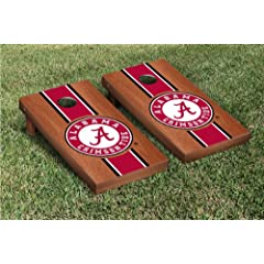 Alabama Crimson Tide Cornhole Game Set Rosewood Stained Version by Gameday Cornhole