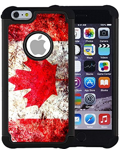 CorpCase iPhone 6 Plus Case / iPhone 6S Plus 5.5 Inch Case - Canada canadian flag grunge distressed / Hybrid Unique Case With Great Protection (Canada I Phone 6 Cover compare prices)