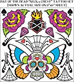 Day Of The Dead Body Tattoos set 74681