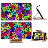 Liili Premium Nokia Lumia 1520 Flip Pu Leather Wallet Case Abstract crazy swirly multi coloured design created using thick impasto digital Photo 4085747 Simple Snap Carrying