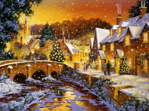 617RseXclUL Buy  Ravensburger Snowy Day 1000 Piece Christmas Puzzle