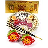 Giftacrossindia Attractive Diwali Thali For Diwali Pooja Accesories Gift Collection