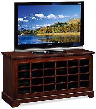 "Leick Furniture 50"" TV Stand w/ 2-Way Sliding Grid Door, Chocolate Oak"