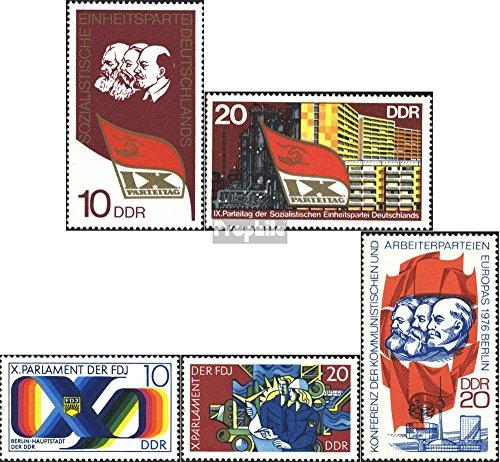 DDR 2123-2124,2133-2134,2146 (kompl.Ausgabe) gestempelt 1976 Sondermarken (Briefmarken für Sammler)