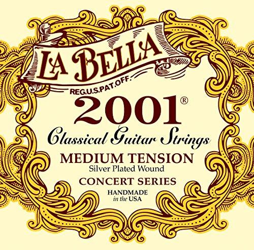 la-bella-653807-medium-professional-studio-silver-string-set-for-classic-guitar